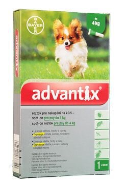 Advantix Spot On 1x0,4ml pro psy do 4kg