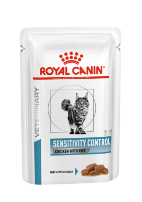 Veterinary Health Nutrition Cat Sensitivity Control Chicken&Rice Pouch